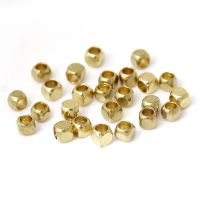 Light Gold Square Seed Beads About 2.5mm x 2.5mm, Hole: Approx 1.0mm​​​​​​​